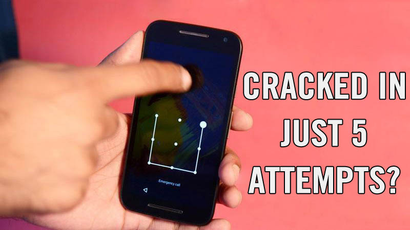 Android Pattern Lock Can Be Cracked In Just 5 Attempts