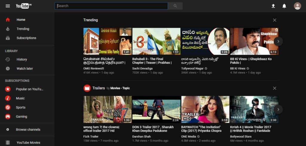Activate The Hidden Dark Mode Of YouTube