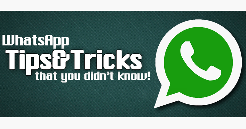 11 Secret WhatsApp Tricks You Probably Don't Know
