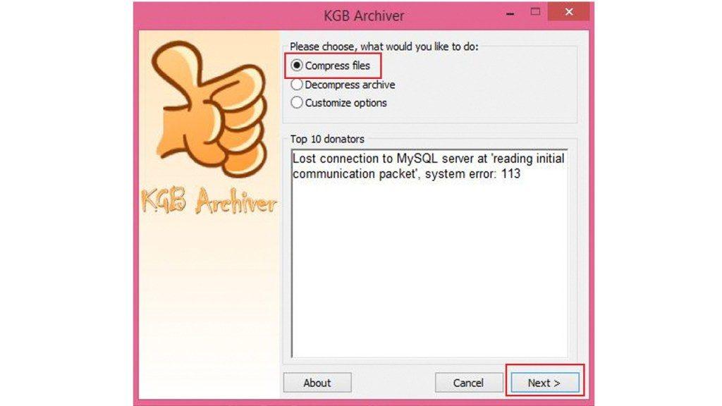 Compress 1GB File Into 100MB