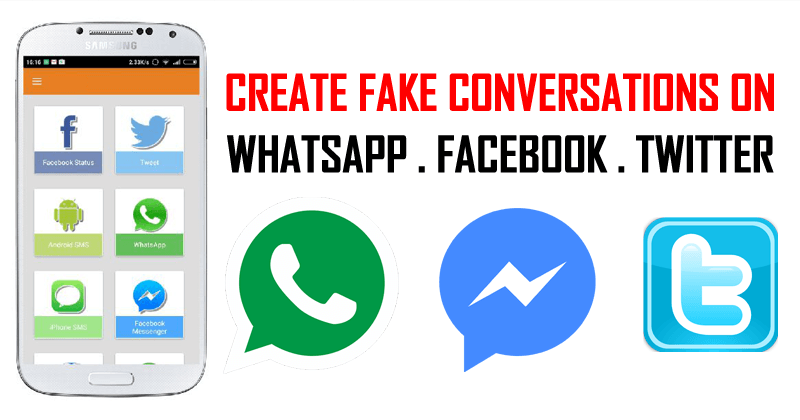 How To Create Fake Conversations On WhatsApp & Facebook