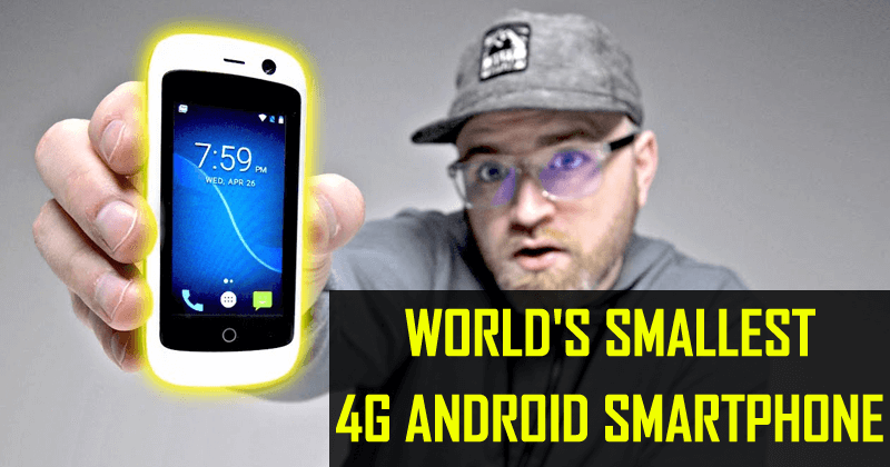 Meet The World's Smallest 4G Android Smartphone