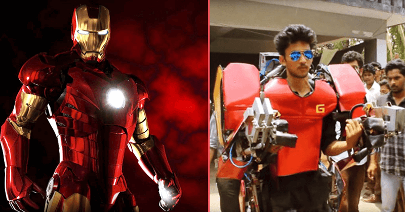 This Indian Boy Builds A Real-Life Iron Man Suit For Just $750