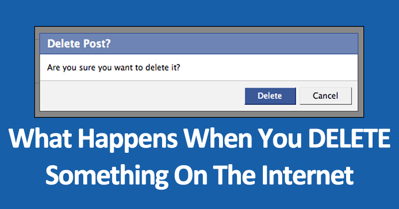 What Happens When You DELETE Something On The Internet
