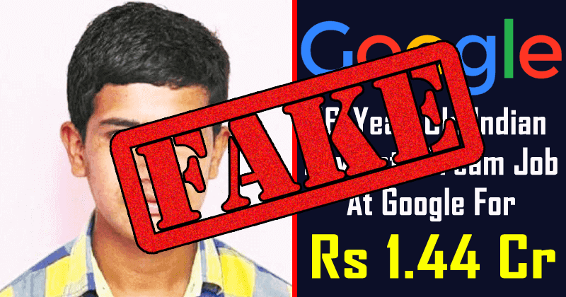 No, Google Didn't Hire This 16-Year-Old Boy For Rs 1.44 Cr