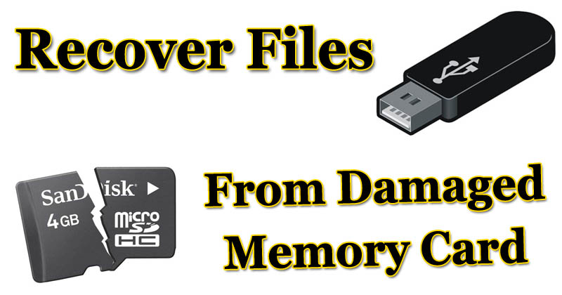 How To Recover Files From Corrupt/Damaged Memory Card or USB Drive