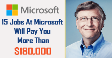 These 15 Jobs At Microsoft Will Pay You More Than $180,000 A Year