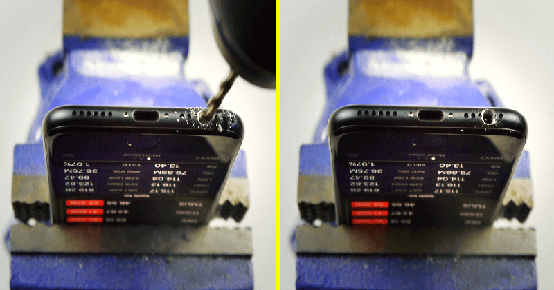 iPhone 7 Owners Fooled Into Drilling Hole In Their Phones