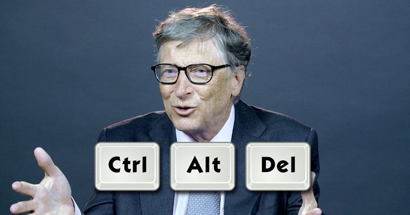 Bill Gates Is Still Apologizing For Ctrl + Alt + Del