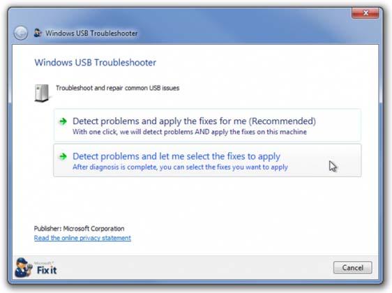 USB Fix It