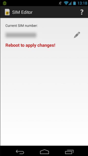 change the SIM number