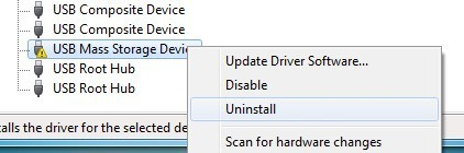 Uninstall USB Devices