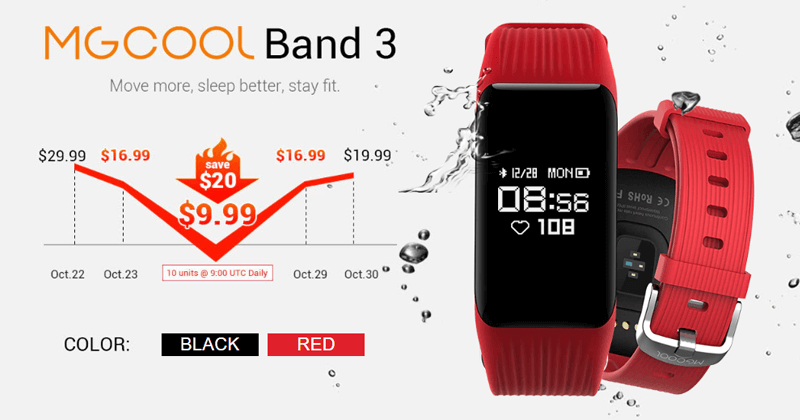 MGCool Band 3 - A Stylish And Economical Smartband