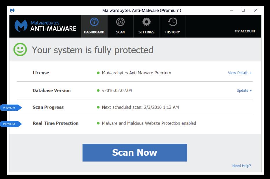 Using Malwarebytes