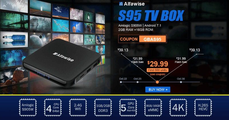 Meet The New Alfawise S95 TV Box - 2GB RAM And 16GB ROM