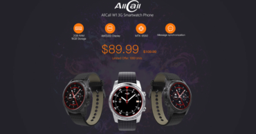 Meet The New AllCall W1 - A Smartwatch With Samsung AMOLED Display Selling At $89