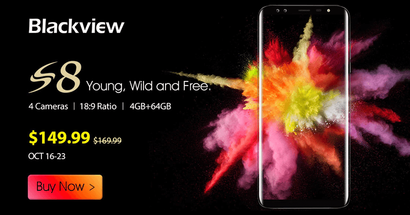 Meet The New Blackview S8 - This Bezel-less Phone Is A Little Bit Different