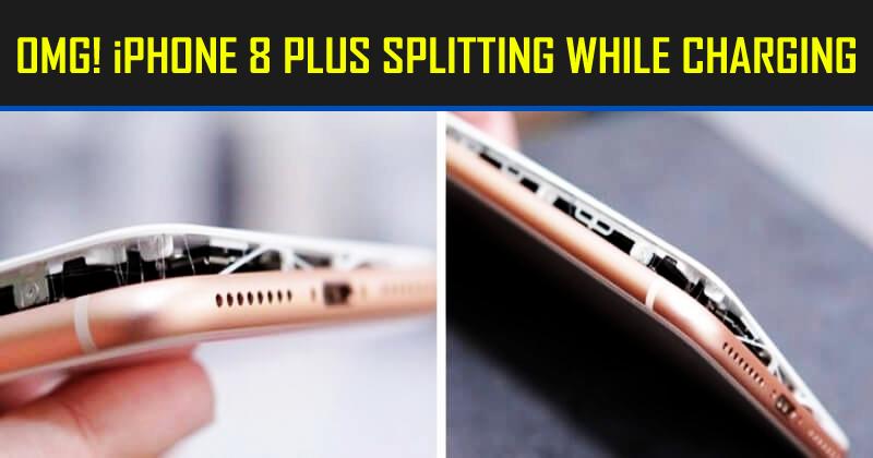 OMG! iPhone 8 Plus SPLITTING While Charging