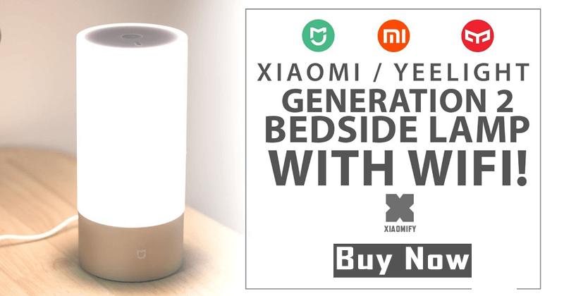 Xiaomi Yeelight Bedside Lamp Bluetooth Control WiFi Connection