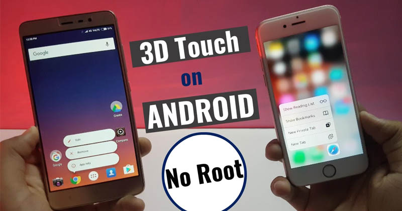 How To Get iPhone 3D Touch Feature On Any Android
