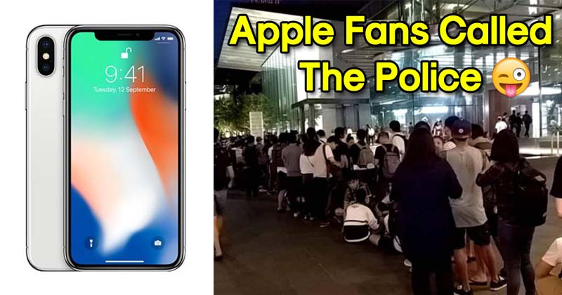 Apple Fans Called The Police Because Apple Store Didn't Have the iPhone X