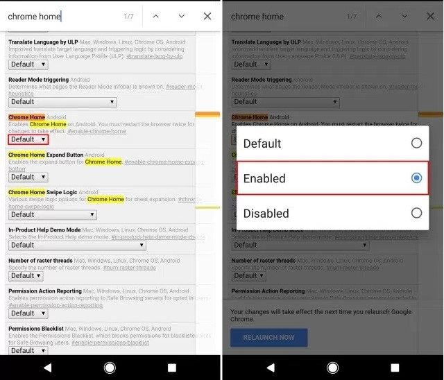 Move Chrome's Address Bar to Bottom on Android