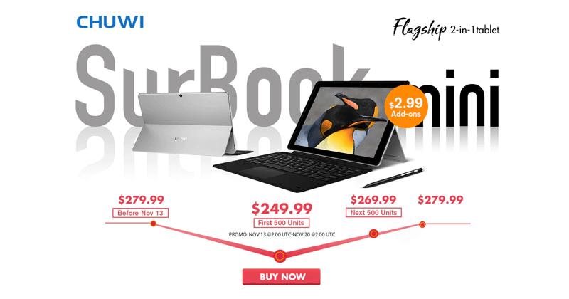 Chuwi SurBook Mini - Meet The Flagship 2-in-1 Tablet PC