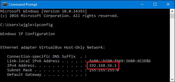 Find Private IP Address