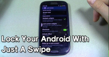 How To Lock Your Android Device With Just A Swipe