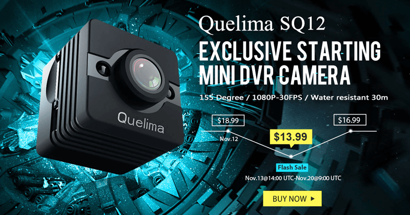 Meet The Best Compact 1080P FHD DVR - Quelima SQ12 Mini