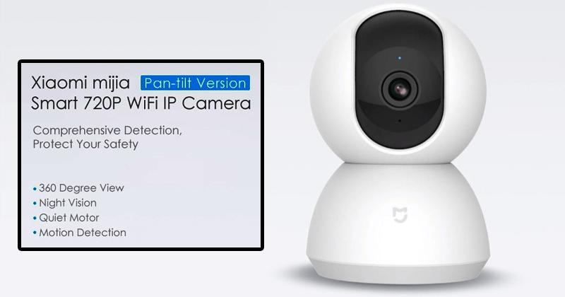 Meet The Xiaomi Mijia Smart 720P WiFi IP Camera Pan-tilt Version