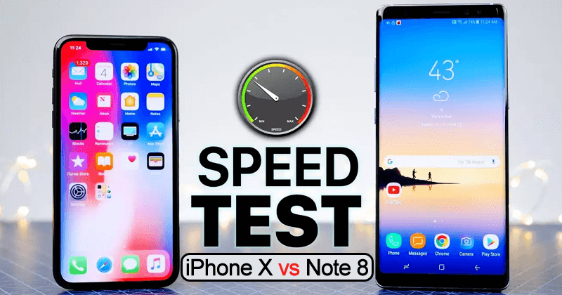 This iPhone X vs Galaxy Note 8 Speed Test Is A Little Shameful For Apple (Video)