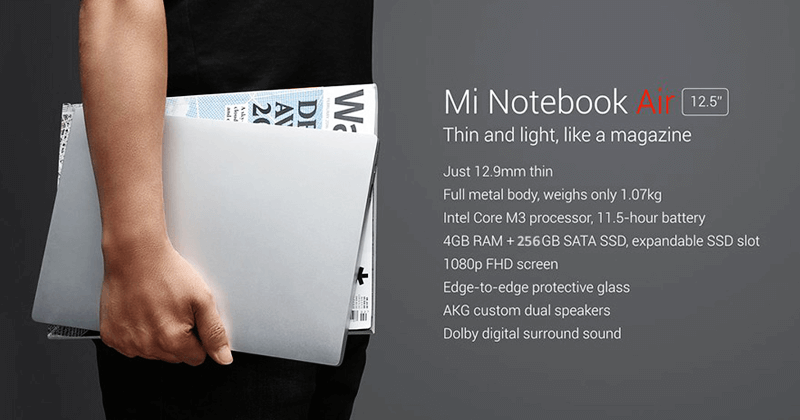 Xiaomi Mi Notebook Air 12 – A Stylish Laptop With Monstrous Power