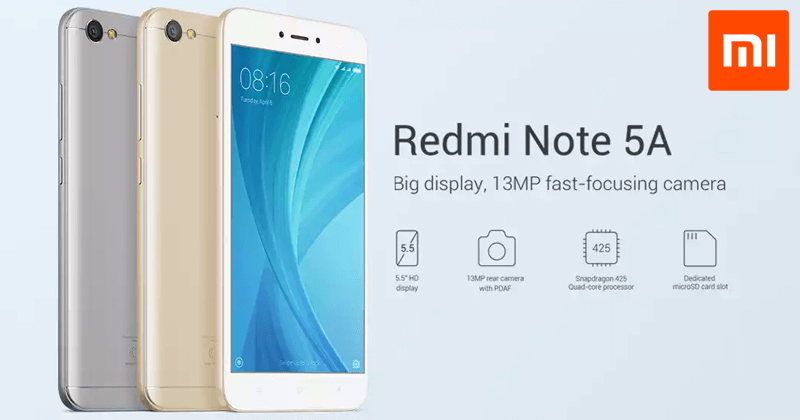 Xiaomi Redmi Note 5A - A Great Smartphone At Low Price (Get A Free Xi Band 2)