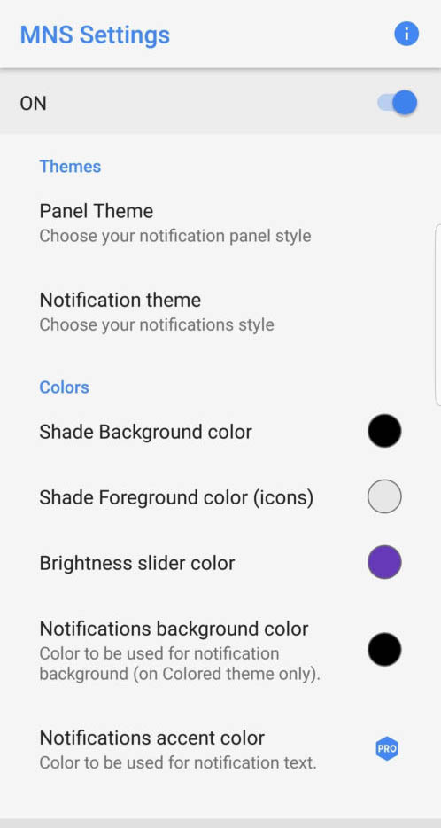 Get Android Oero's Notification Shade