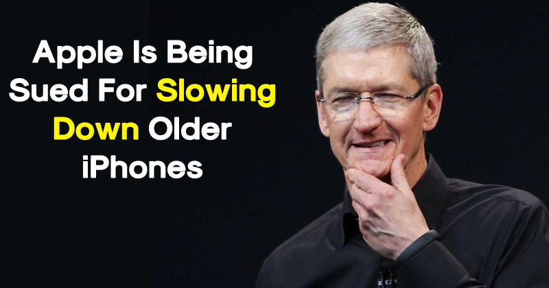 Apple Is Being Sued For Slowing Down Older iPhones