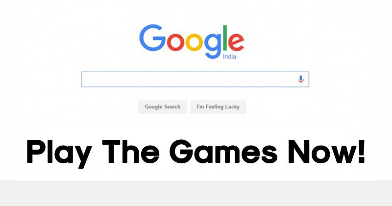 5 Games That You Can Play From The Google Search Engine