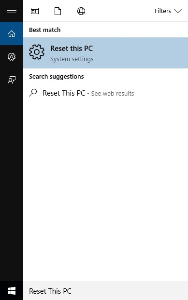Reset Windows 10 Computer