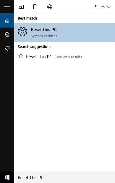 Reset Windows 10 Computer