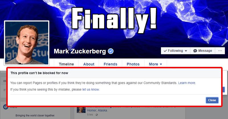 Finally, You Can Block Mark Zuckerberg On Facebook!