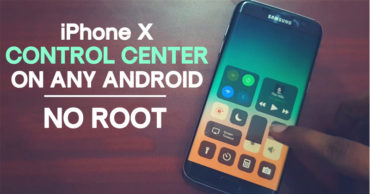 How To Get iPhone X Like Control Center On Any Android Device