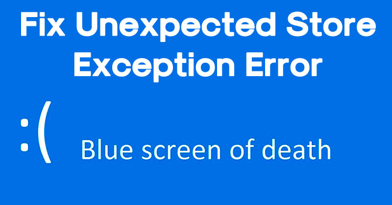 How To Fix Unexpected Store Exception Error On Windows