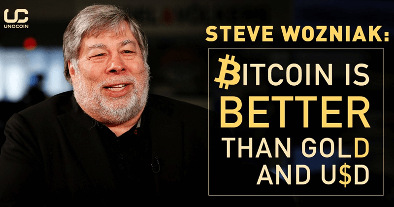 Bitcoin Is Better Than GOLD And DOLLARS: Steve Wozniak