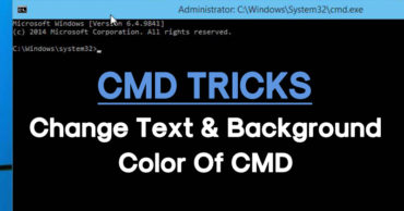 How To Change Text And Background Color Of CMD