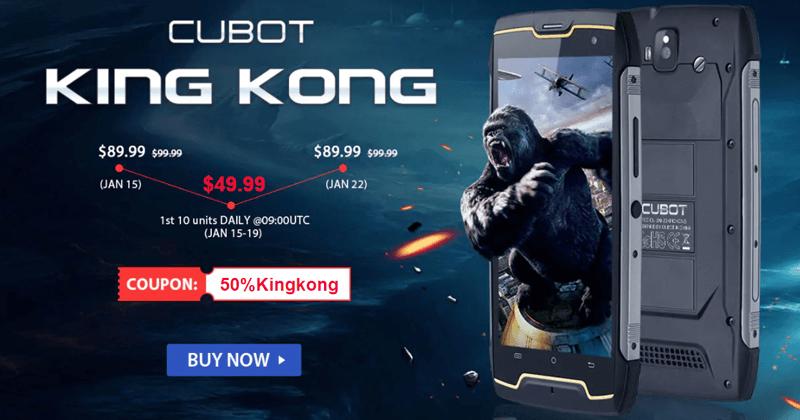 CUBOT Kingkong - Meet The Real King Kong Like Smartphone