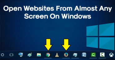 How To Open Any Website From Almost Any Screen On Windows