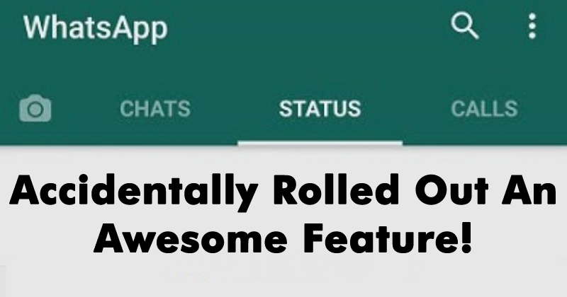 WhatsApp Accidentally Rolled Out An Awesome Feature!