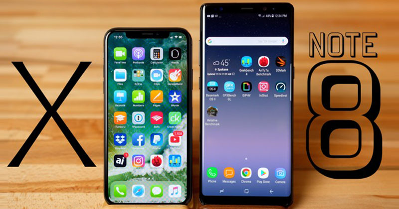 iPhone X Beats Samsung Galaxy Note 8!