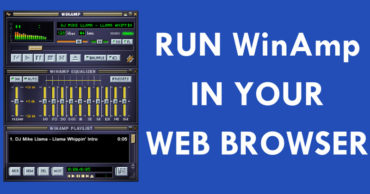 Now You Can Run WinAmp In Your Web Browser And Play MP3s