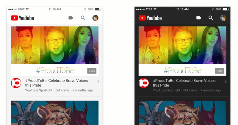 YouTube For iOS & Android Gets A Dark Mode